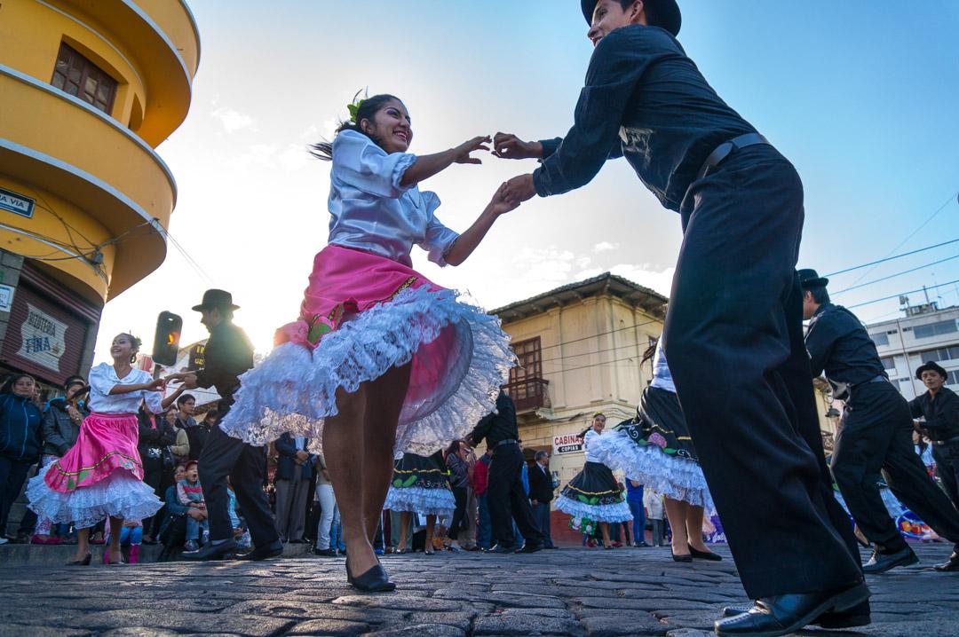 Riobamba, Ecuador, at Christmas time.