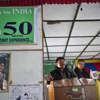 Dorjee, Nima and Dhondup at immigration meeting in Tenzigaon, Arunachal Pradesh, India © Pat Morrow 2012