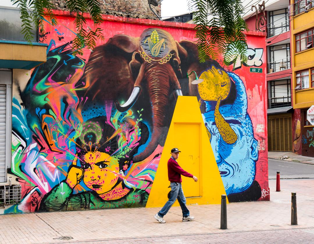 Street art in Bogota.