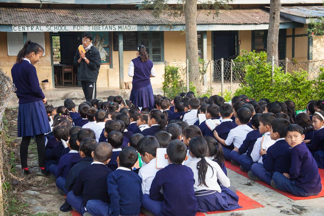 Primary school in Tibetan refugee village of Miao, Arunachal Pradesh. India. 2012.