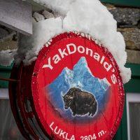 Lukla snowfall - street scenes