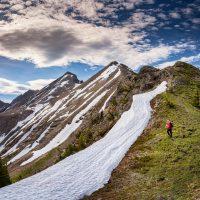 ridgewalk with Sarah Locke, Rockies, near Invermere