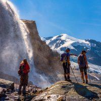 Hike with Shawn Wallinder, Carol Epp and Haruko Nagano. Purcells