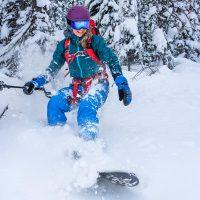 Nicole Trigg snowboards Purcells